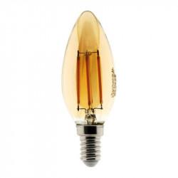 454902 AMPOULE LED FILAMENT AMBRÉE FLAMME 4W E14 345 LM