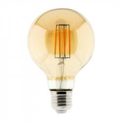 Ampoule led filament ambrée globe 6W E27 720 lumens Elexity
