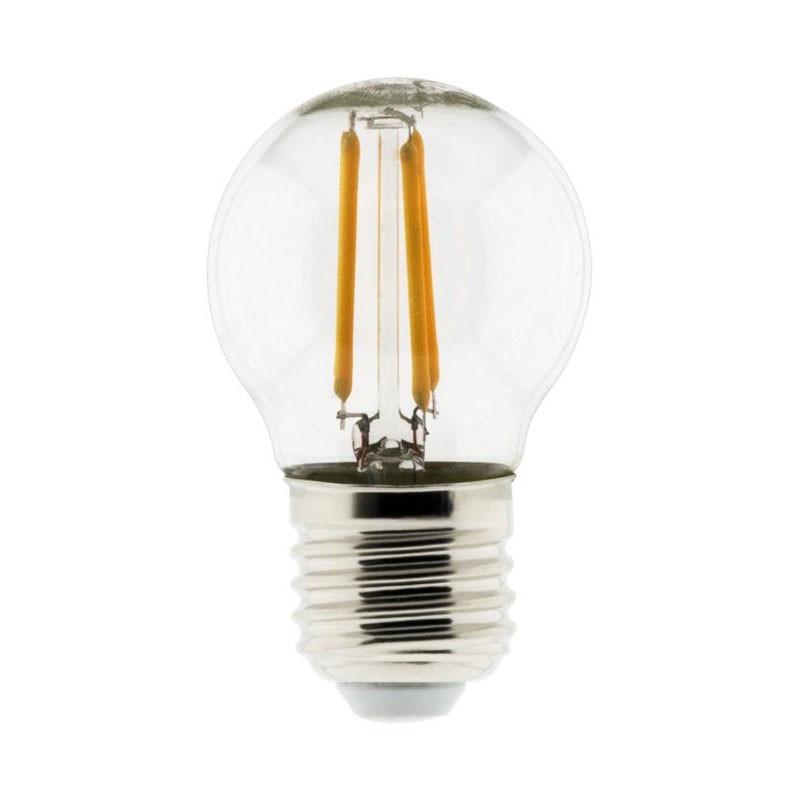 4W E27 2700K 450 lumens Elexity LED bulb with spherical filament 4W E27 2700K 450 lumens Elexity