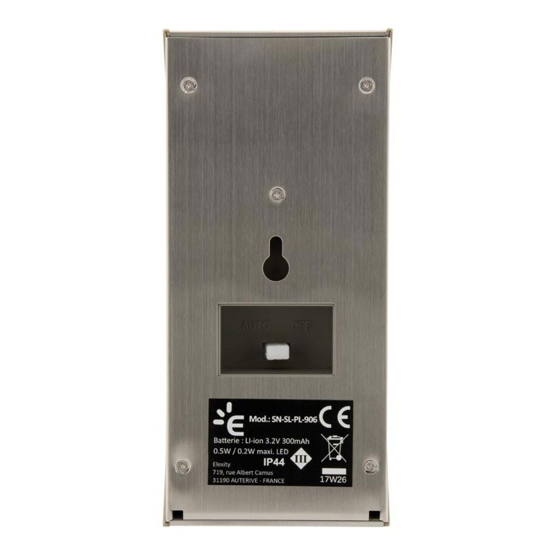 Led solar wall light with grey motion detector 50LM