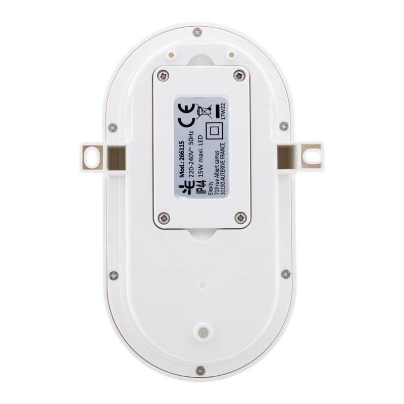 455181 HUBLOT OVALE LED  15W  1050LM  IP44  BLANC
