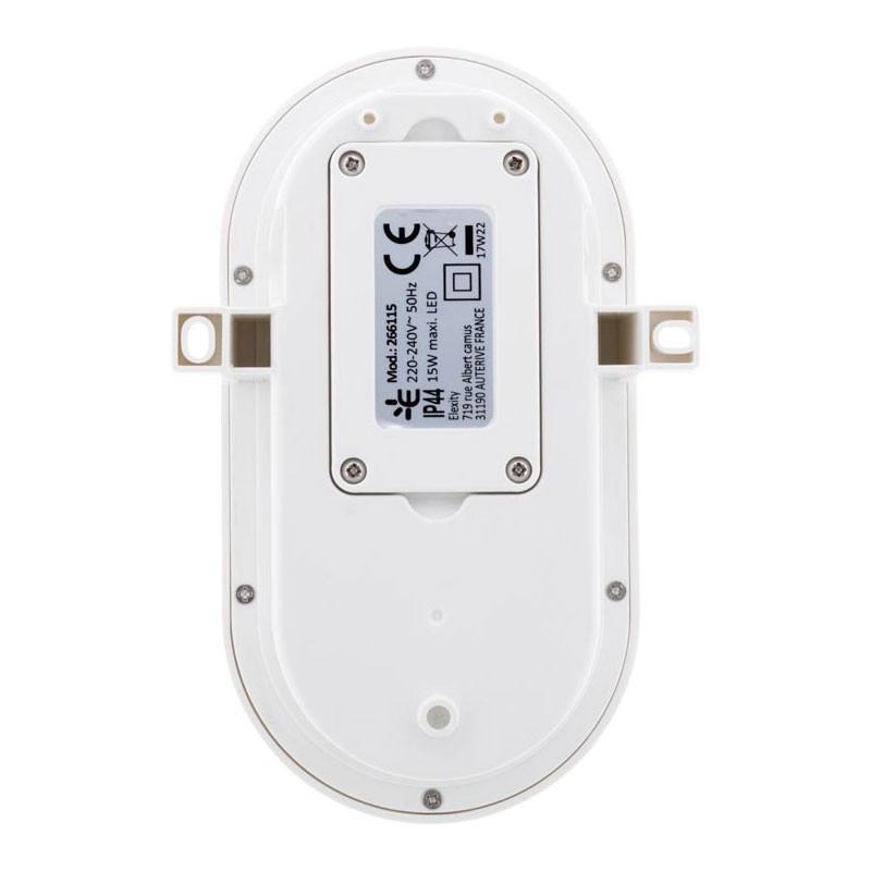 Oval porthole led 15W IP44 white Elexity