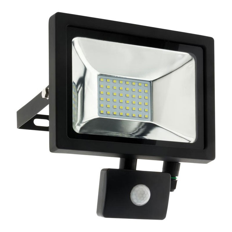 Waterproof 48 LED floodlight 20W + detector 6500K 1600LM IP44 black