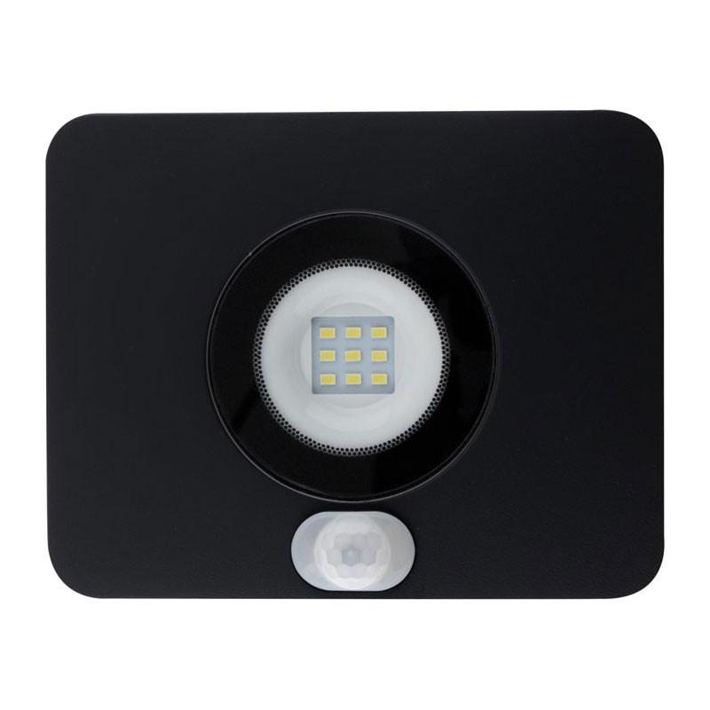 10W 800 lumens 6500K° black Elexity LED floodlight with sensor 10W 800 lumens 6500K° black Elexity