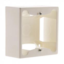 Cadre saillie 80 x 80 x 40 entraxe 60 mm blanc