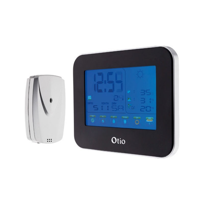 Touch screen weather station with wireless outdoor sensor - OTIO