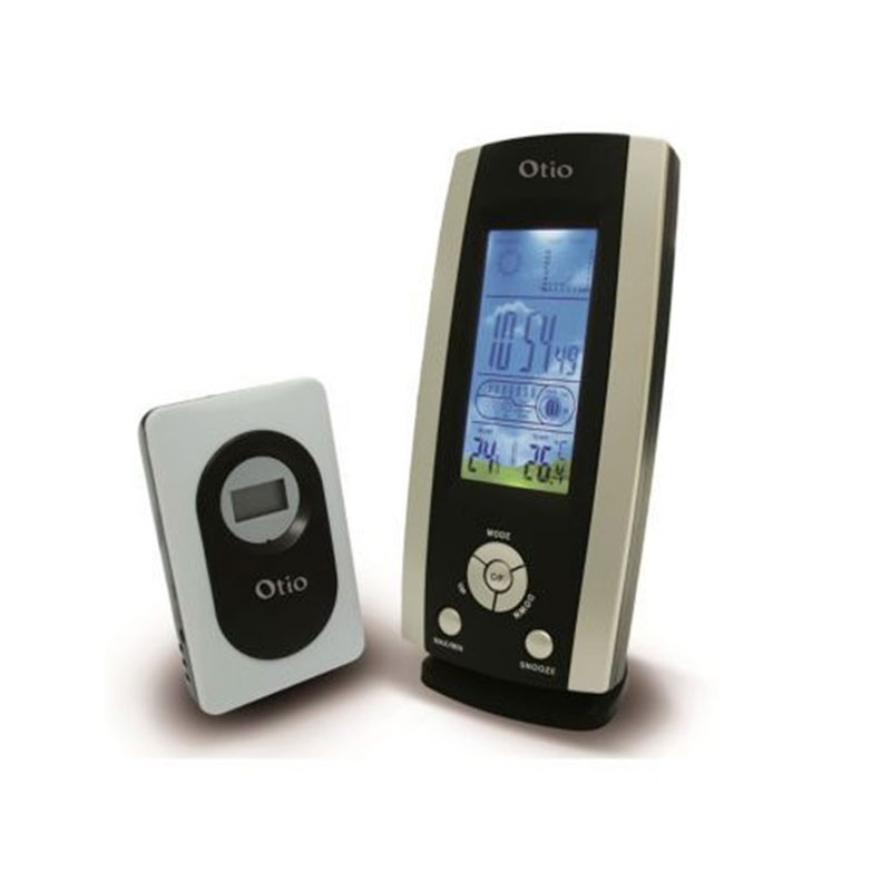 Weather-hygrometer unit with LCD Color with wireless sensor - OTIO