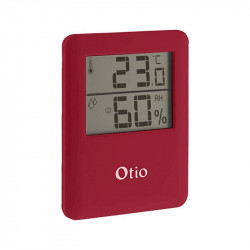 Thermomètres Hygromètres rouge Otio 65x80mm