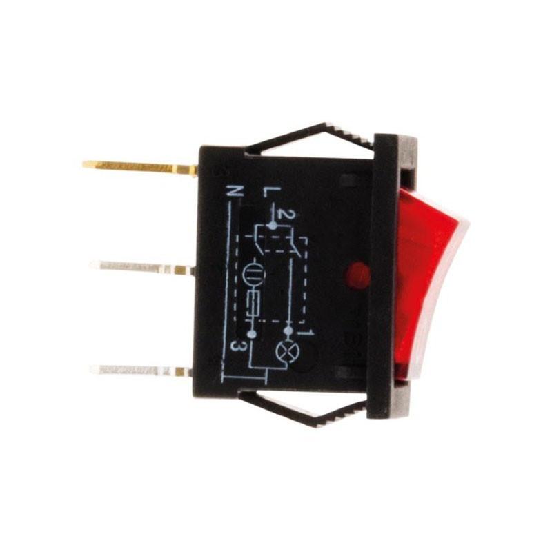 Toggle switch rect 250V 6A Lumi