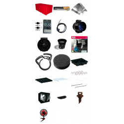 Pack Black Box V1 240 X 240 Aero Eco , pack culture room , culture in closet
