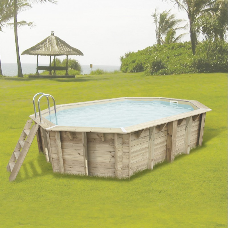Octagonal swimming pool Sunwater 300x490cm - beige liner - Ubbink (delivery: 15 days)