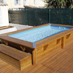 Piscine rectangle Azura 200x350cm - liner bleu - Ubbink (livraison : 15 jours)