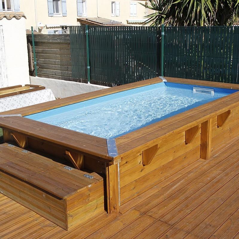 Rectangular swimming pool Azura 200x350cm - blue liner - Ubbink (delivery: 15 days)