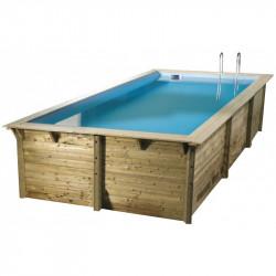 Piscine rectangle Sunwater 300x555cm - liner bleu - Ubbink (livraison : 15 jours)