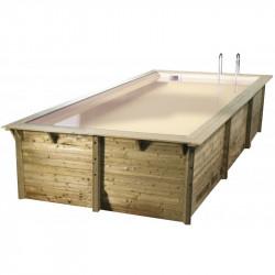 Piscine rectangle Sunwater 300x555cm - liner beige - Ubbink (livraison : 15 jours)