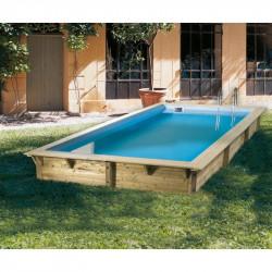 Piscine Azura 350x505cm - liner bleu - Ubbink (livraison : 15 jours)