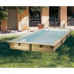 Piscine Azura 350x505cm - liner beige - Ubbink (livraison : 15 jours)