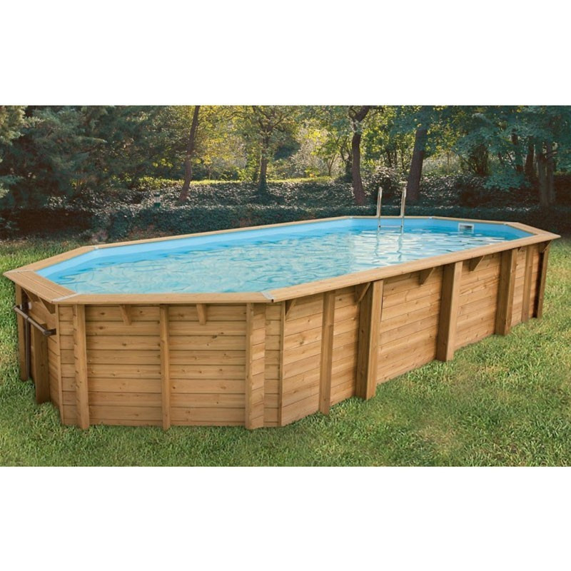 Swimming pool Azura 400x750cm - blue liner - Ubbink (delivery: 15 days)