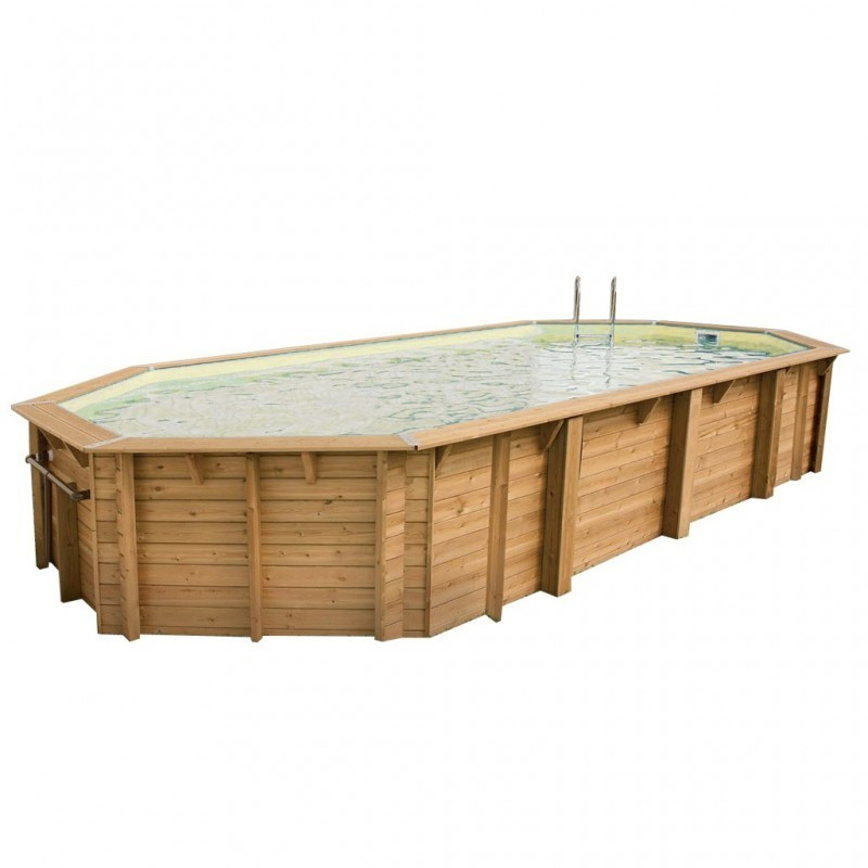 Swimming pool Azura 400x750cm - beige liner - Ubbink (delivery: 15 days)