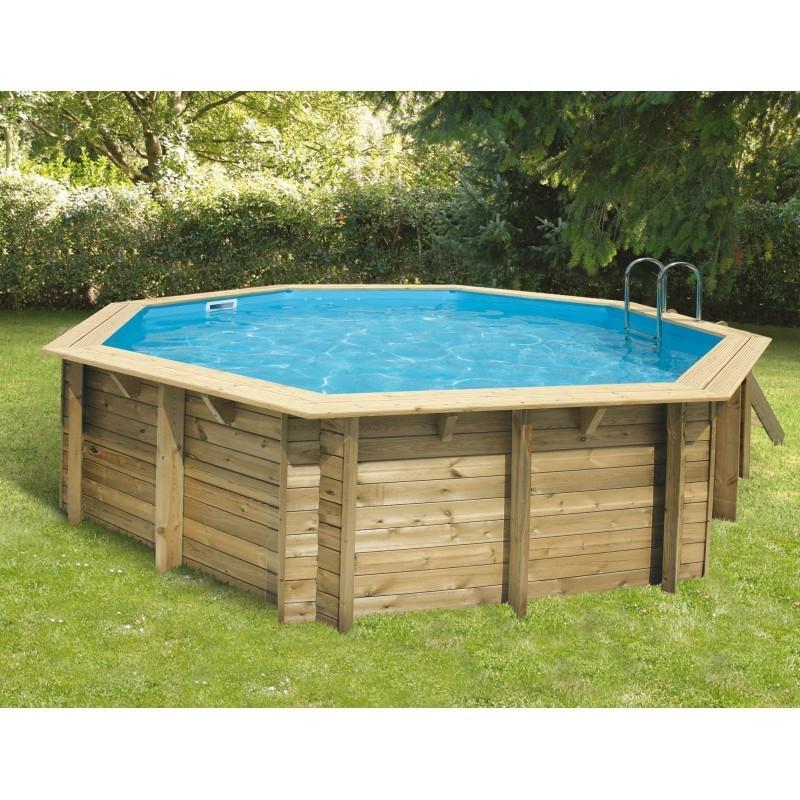 Octagonal swimming pool Océa ø510cm - blue liner - Ubbink (delivery: 15 days)