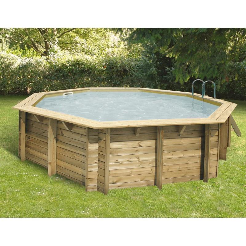 Octagonal swimming pool Océa ø510cm - beige liner - Ubbink (delivery: 15 days)