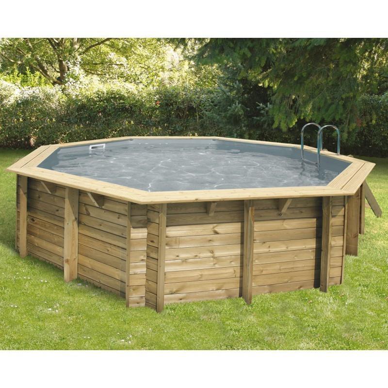 Octagonal swimming pool Océa ø510cm - grey liner - Ubbink (delivery: 15 days)