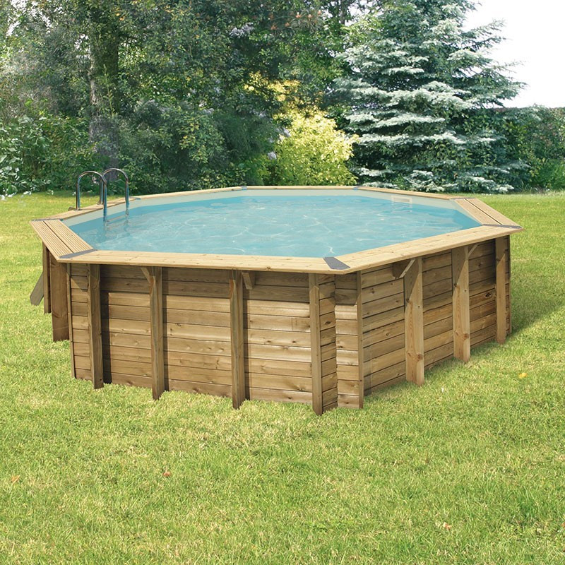 Octagonal swimming pool Océa ø580cm - beige liner - Ubbink (delivery: 15 days)