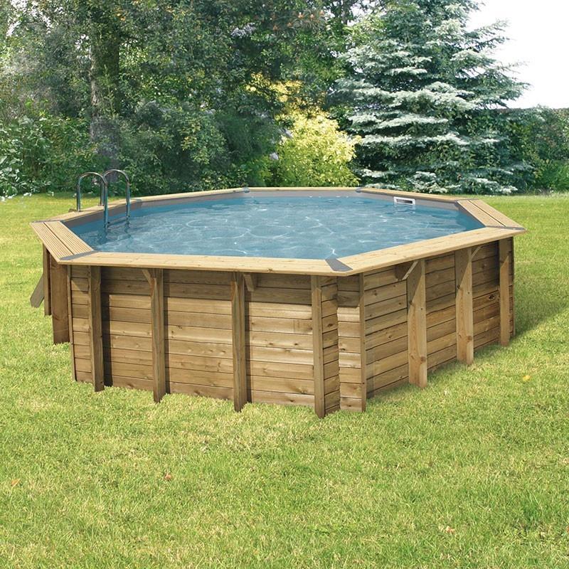 Octagonal swimming pool Océa ø580cm - grey liner - Ubbink (delivery: 15 days)