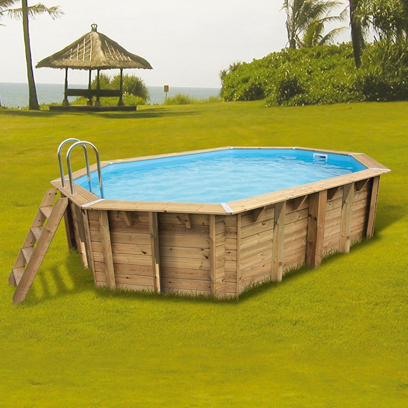 Swimming pool Océa 355x550x120cm - blue liner - Ubbink (delivery: 15 days)