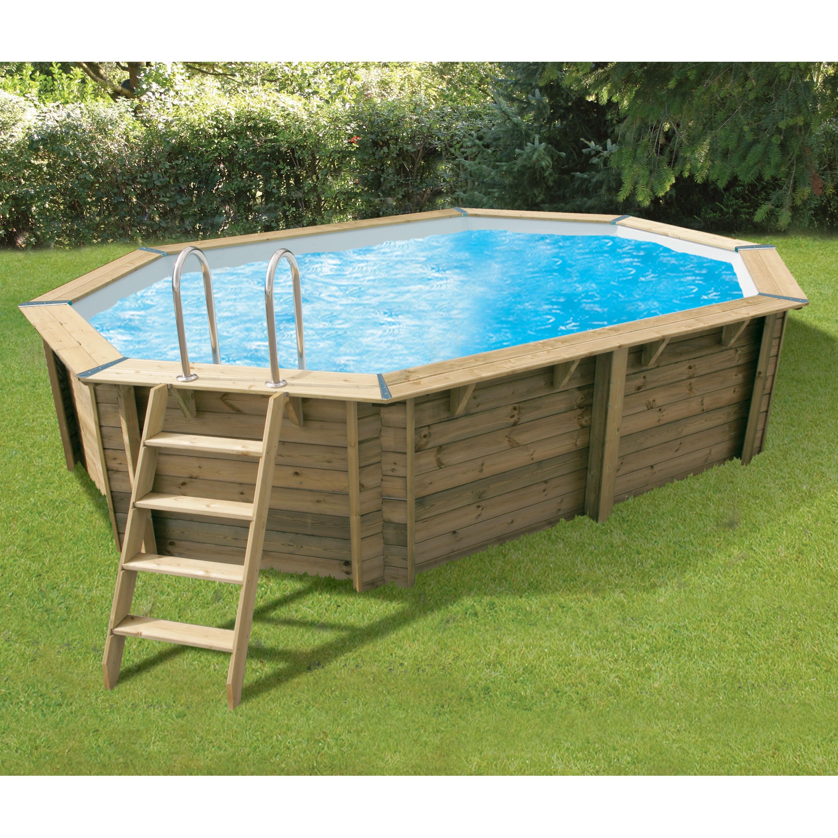 Swimming pool Océa 355x550x120cm - beige liner - Ubbink (delivery: 15 days)