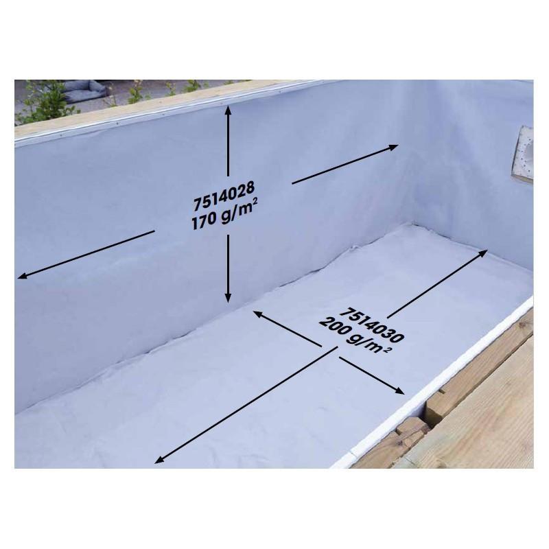 Feutre de protection de sol piscine - 200g /m² - Ubbink (livraison : 15 jours)