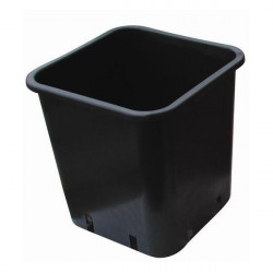 Pot black Square 23x23x26 11 L plastic