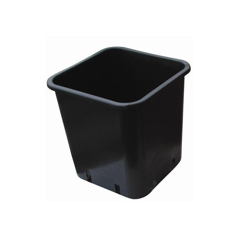 Pot black Square 23x23x26 11 L plastic