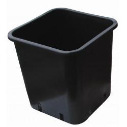Pot black square 28.5x28.5x28.4 -14L