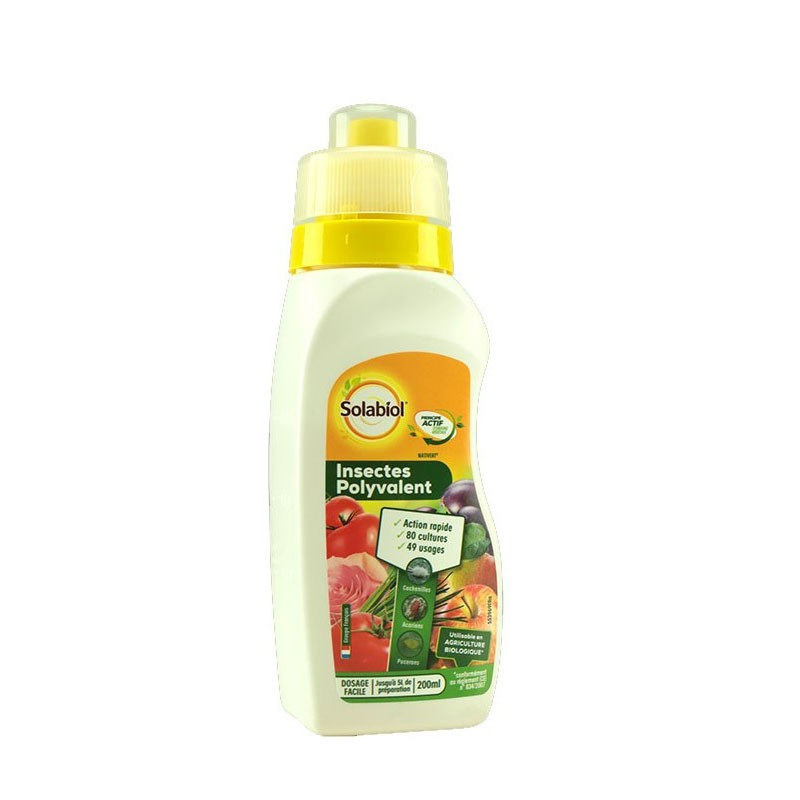 SOLABIOL MULTI-PURPOSE INSECT SOLABIOL CANISTER WITH MEASURING CAP 200ML
