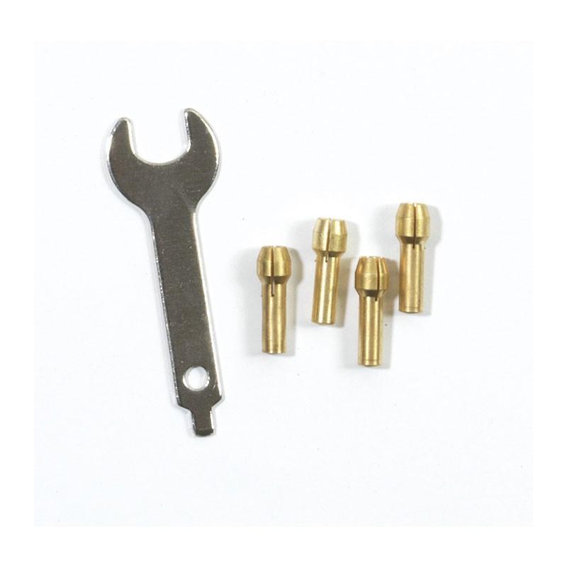 Set of 4 chucks + key for multifunction kit - Ribitech