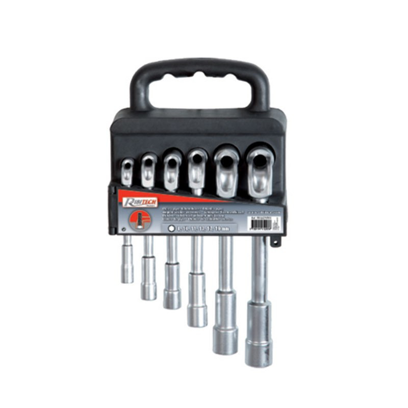 Set of 6 open-end pipe wrenches from Ø8 to 19 mm - Ribitech