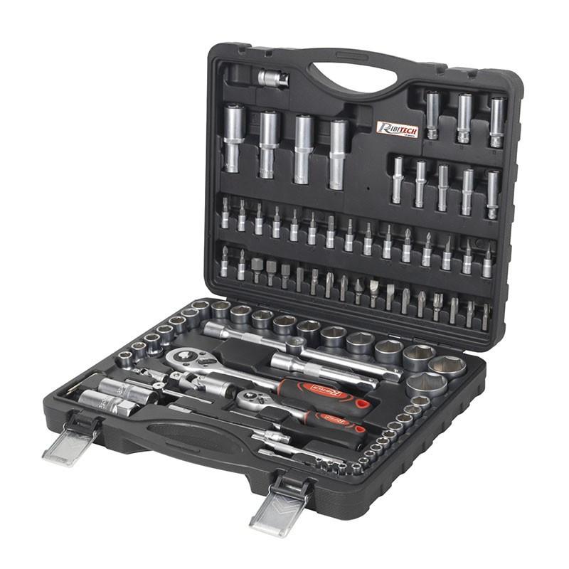 Socket wrench set pro chrome vanadium 94 pcs - Ribitech