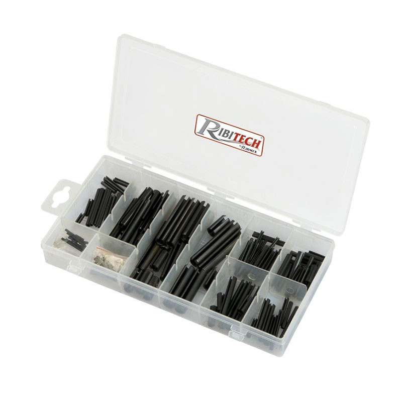 Set of 120 elastic steel pins in a box - Ribitech