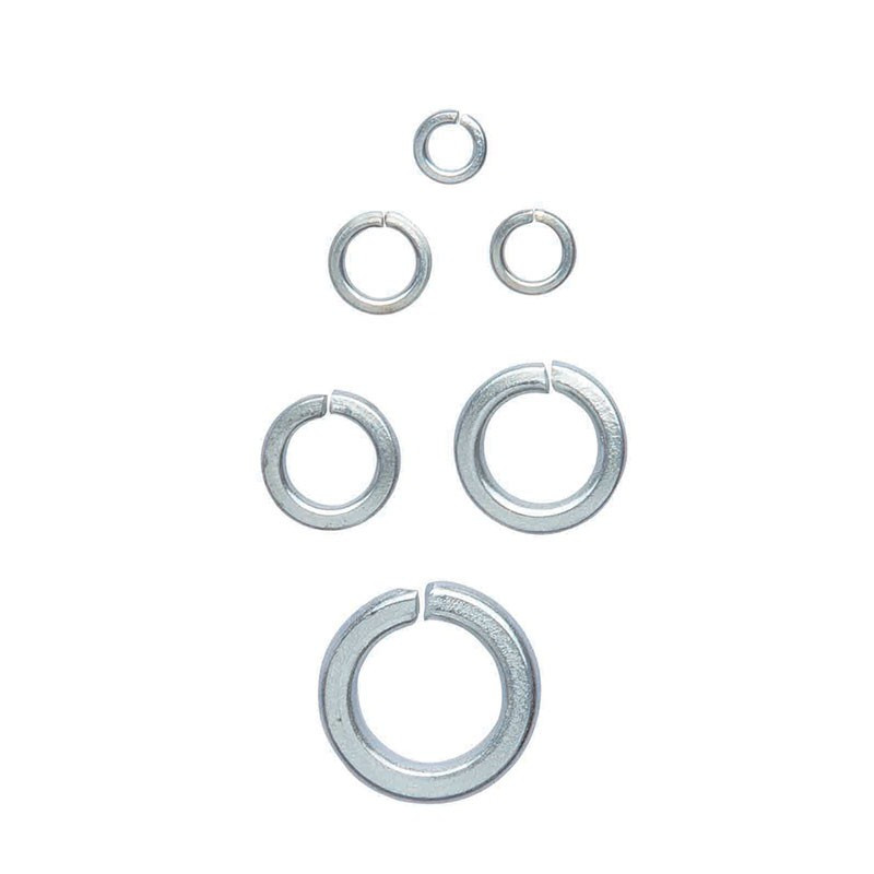 Set of 350 lock washers and flat washers in box - Ribitech