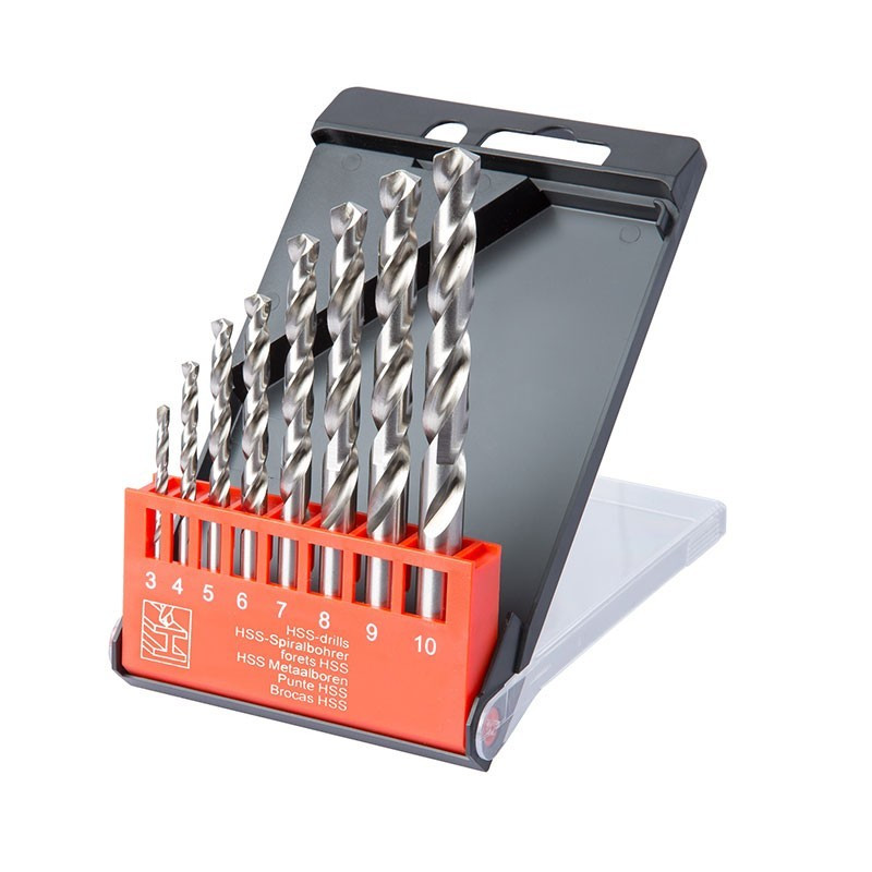 Box of 8 pro metal drills from 3 to 10mm - Ribitech