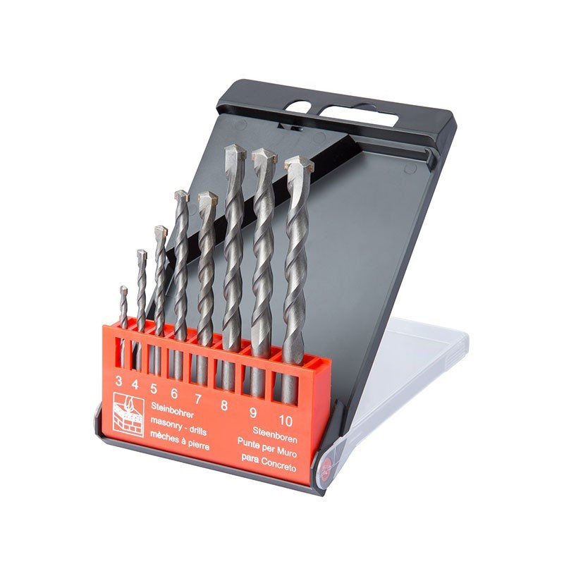 Box of 8 pro concrete drills from 3 to 10mm - Ribitech