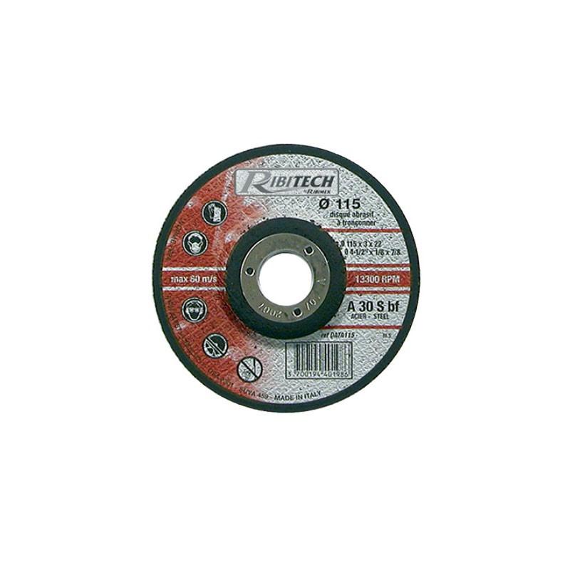 Abrasive Disc Ø115 Steel Offset Steel Cutting 115X3.2X22.2 - Ribitech
