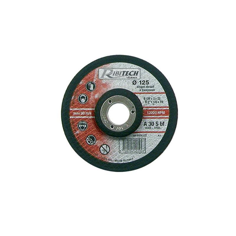 Abrasive Disc Ø125 Steel Offset Steel Cutting 125X3.2X22.2 - Ribitech