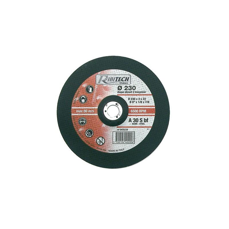 Abrasive Disc Ø230 Steel Offset Steel Cutting 230X3.2X22.2 - Ribitech