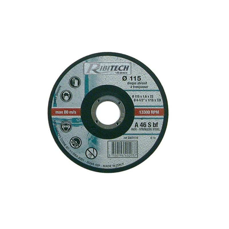 Abrasive Disc Ø115 Stainless Steel Flat Saw 115X1.6X22.2 - Ribitech