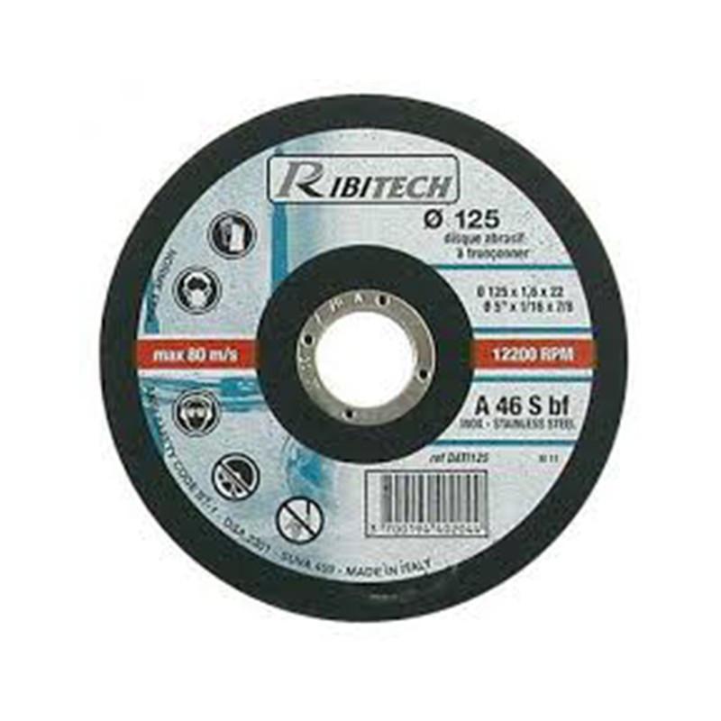 Abrasive Disc Ø125 Stainless Steel Flat Sawing 125X1.6X22.2 - Ribitech