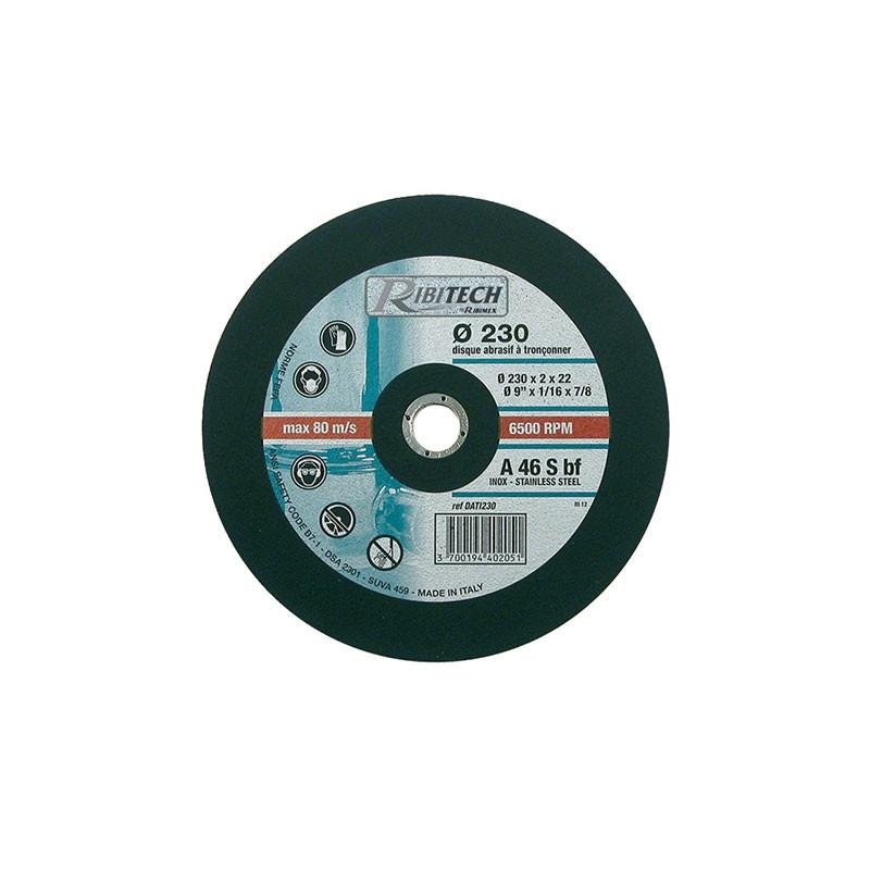 Abrasive Disc Ø230 Stainless Steel Flat Saw 230X2X22.2 - Ribitech