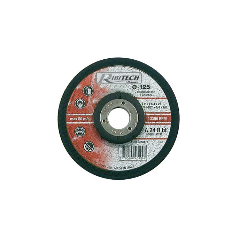 Abrasive Disc Ø125 Sawing Ebarber Steel 125X6,4X22,2 - Ribitech