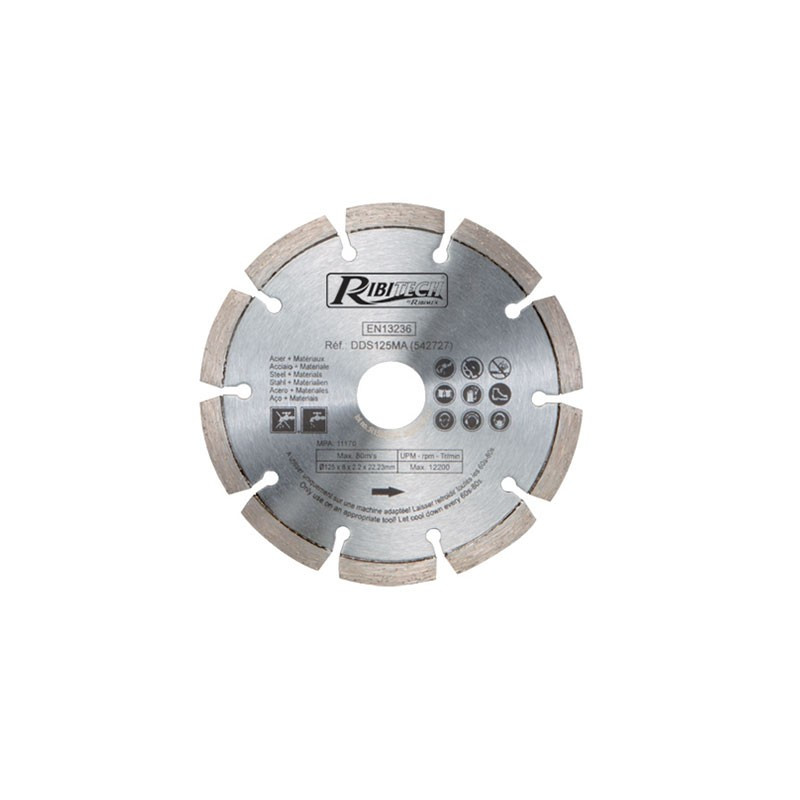 Diamond Disc Diam.125mm Material/Steel - Ribitech